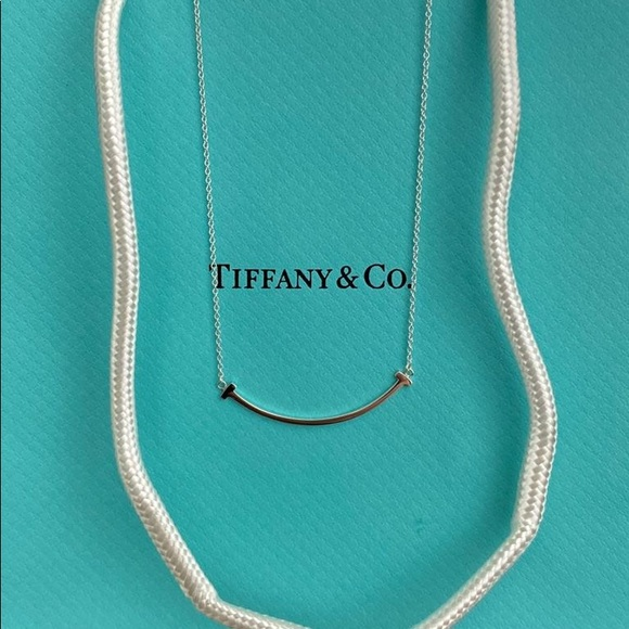 Tiffany & Co. Jewelry - T Smile necklace starling silver